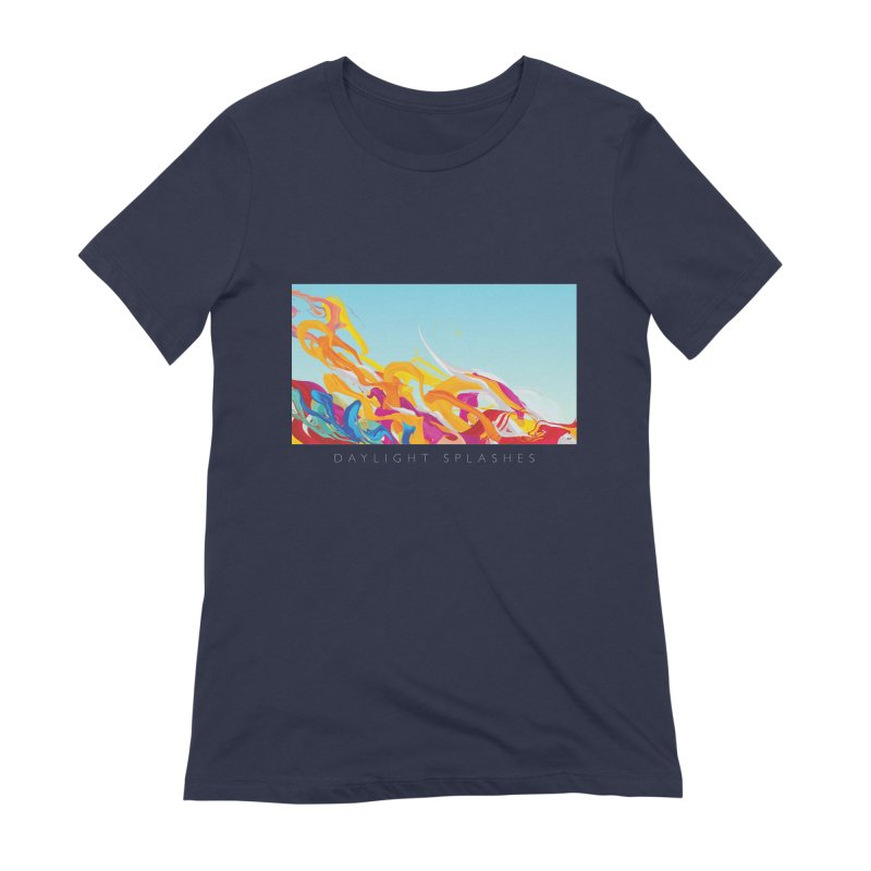 DAYLIGHT SPLASHES Women's Extra Soft T-Shirt by mu's Artist Shop