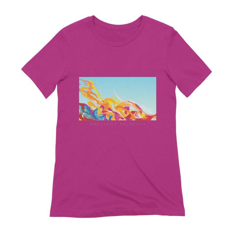 DAYLIGHT SPLASHES Women's Extra Soft T-Shirt by mu's Artist Shop