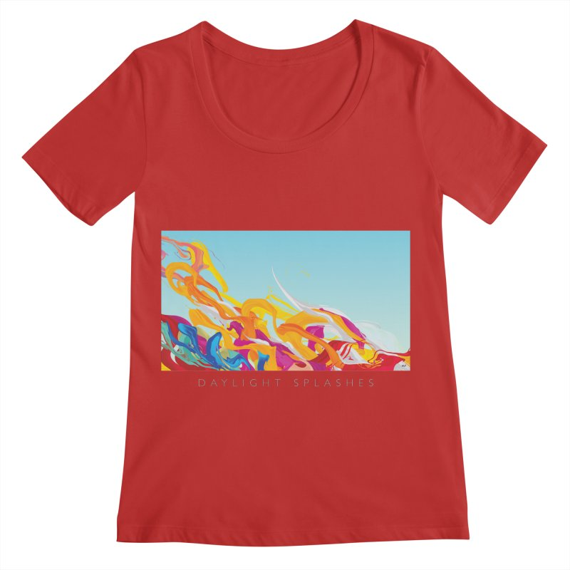 DAYLIGHT SPLASHES Women's Regular Scoop Neck by mu's Artist Shop
