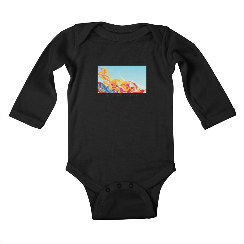 DAYLIGHT SPLASHES Kids Baby Longsleeve Bodysuit by mu's Artist Shop