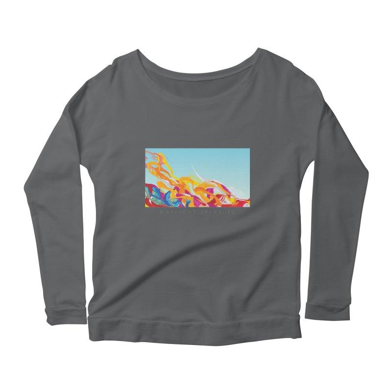 DAYLIGHT SPLASHES Women's Scoop Neck Longsleeve T-Shirt by mu's Artist Shop