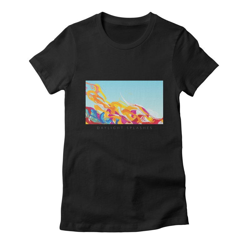 DAYLIGHT SPLASHES Women's Fitted T-Shirt by mu's Artist Shop