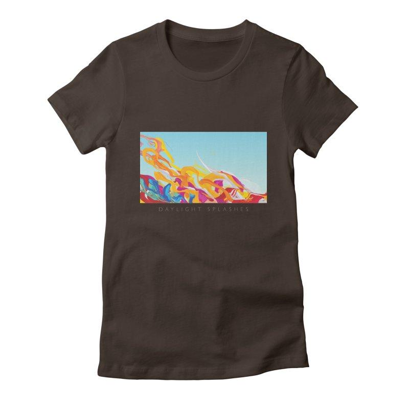 DAYLIGHT SPLASHES Women's Fitted T-Shirt by mu's Artist Shop