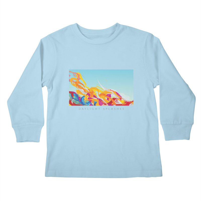 DAYLIGHT SPLASHES Kids Longsleeve T-Shirt by mu's Artist Shop
