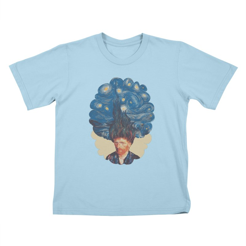 de hairednacht Kids T-Shirt by muag's Artist Shop