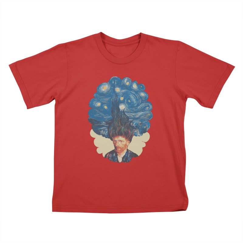 de hairednacht Kids T-Shirt by muag's Artist Shop