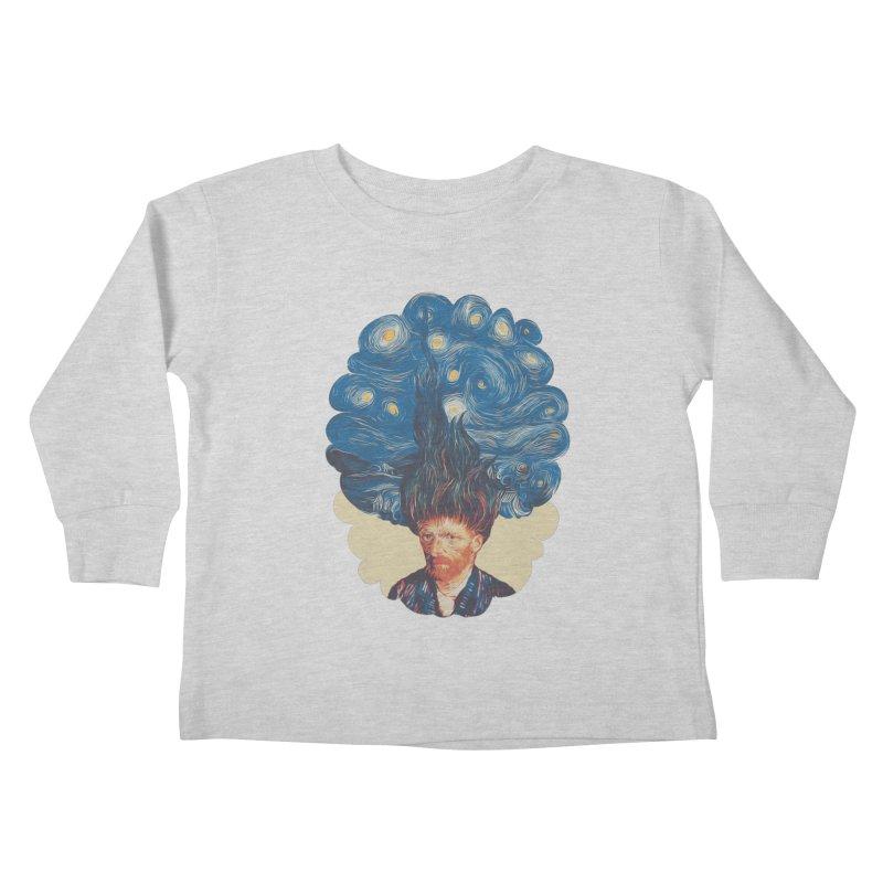 de hairednacht Kids Toddler Longsleeve T-Shirt by muag's Artist Shop