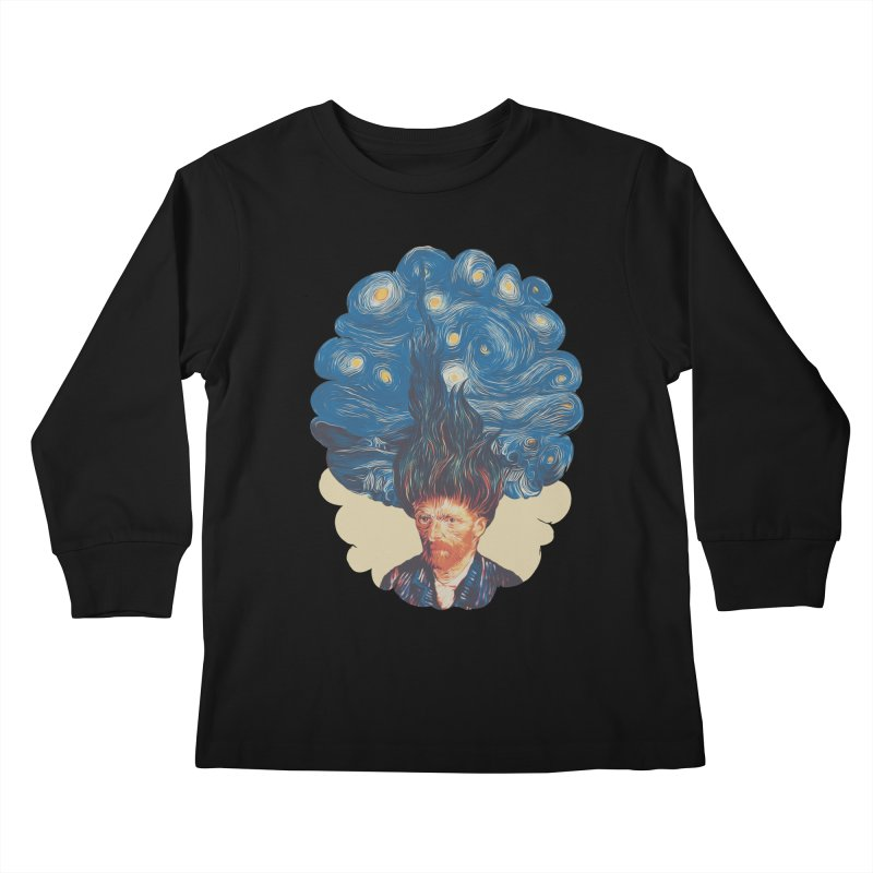 de hairednacht Kids Longsleeve T-Shirt by muag's Artist Shop