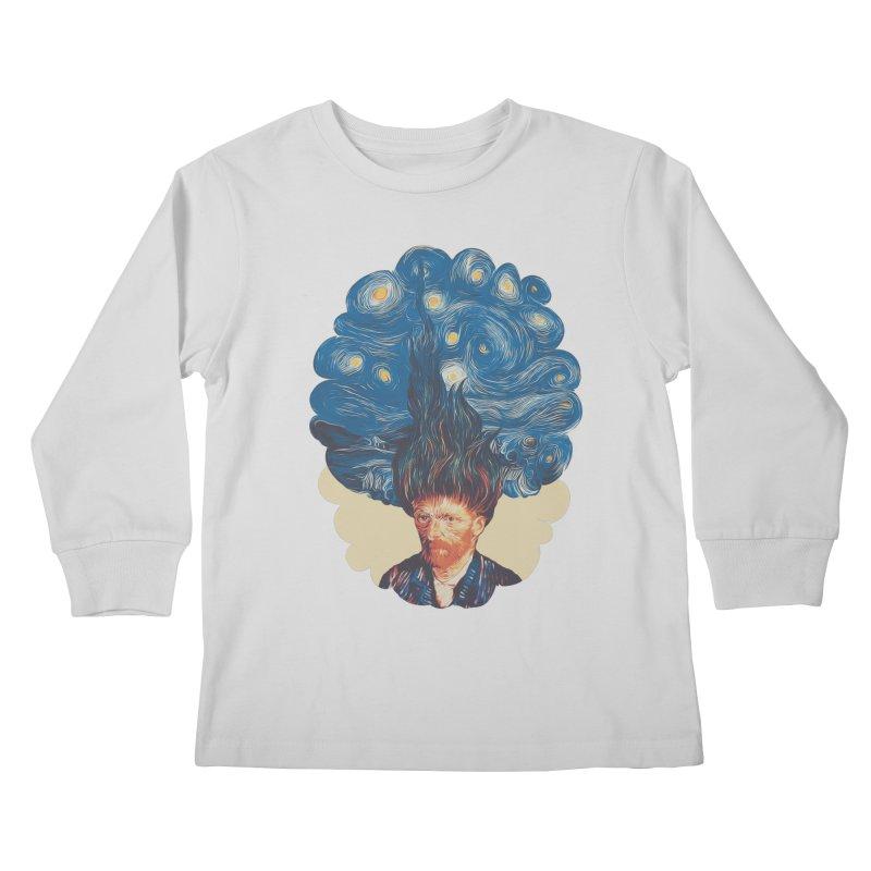 de hairednacht Kids Longsleeve T-Shirt by muag's Artist Shop