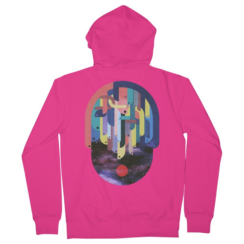 medusa Men's French Terry Zip-Up Hoody by muag's Artist Shop