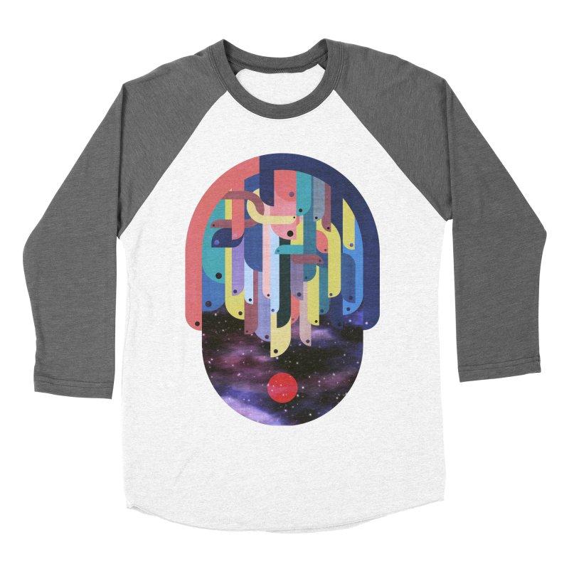medusa Women's Baseball Triblend Longsleeve T-Shirt by muag's Artist Shop