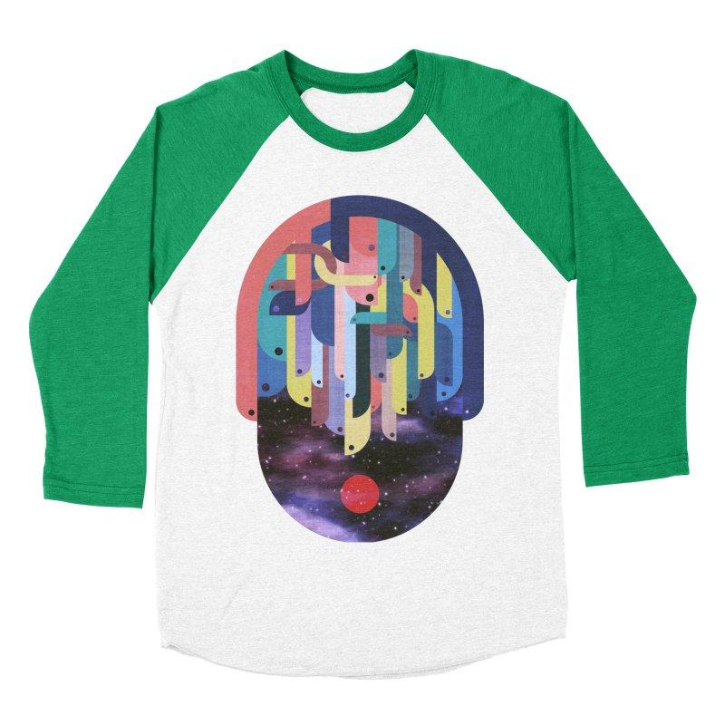 medusa Men's Baseball Triblend T-Shirt by muag's Artist Shop