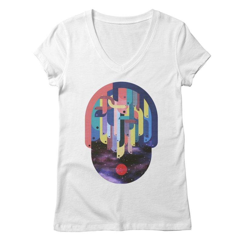 medusa Women's V-Neck by muag's Artist Shop