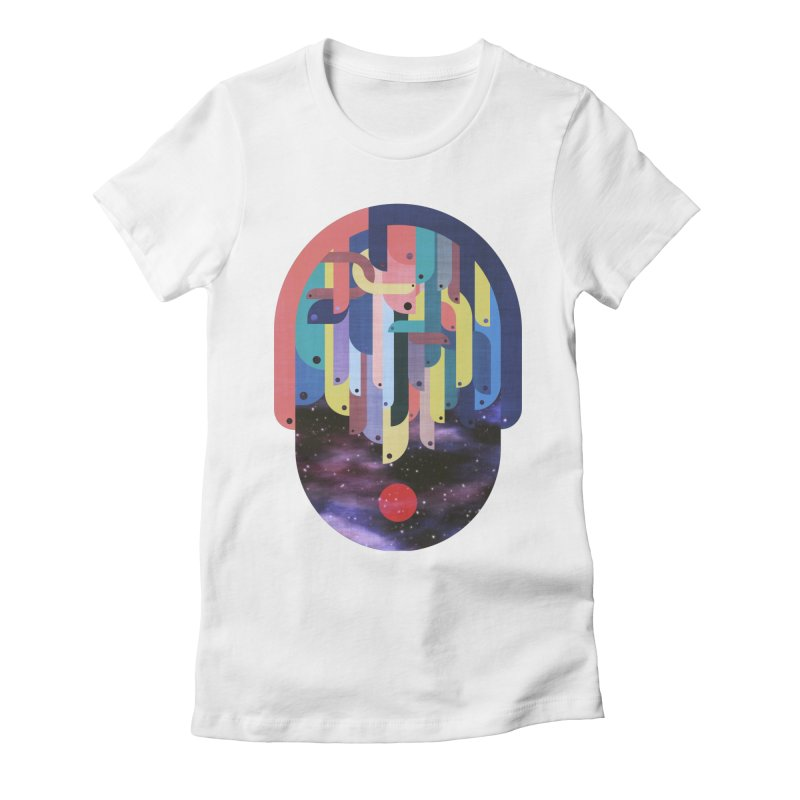 medusa Women's Fitted T-Shirt by muag's Artist Shop