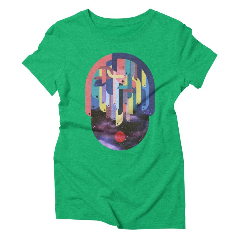 medusa Women's Triblend T-Shirt by muag's Artist Shop
