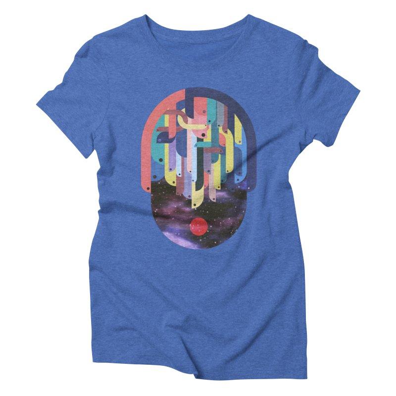 medusa Women's Triblend T-Shirt by muag's Artist Shop
