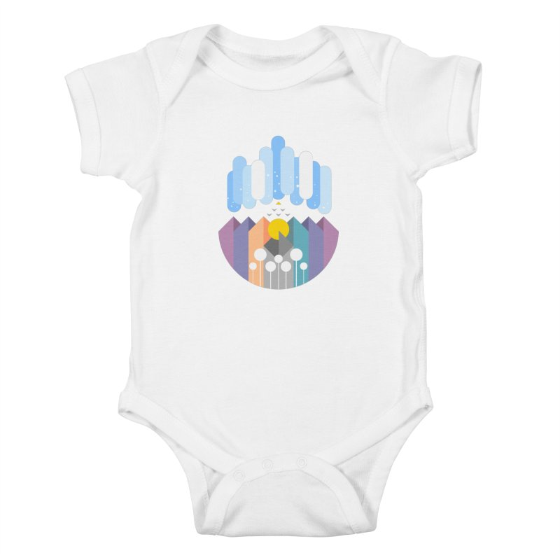 geomy Kids Baby Bodysuit by muag's Artist Shop