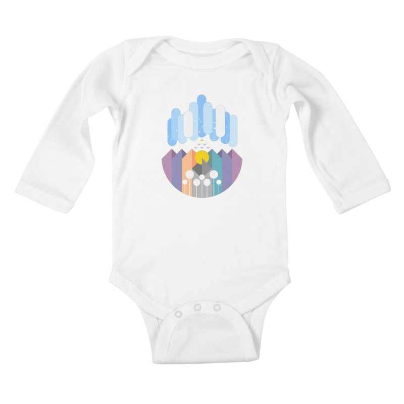 geomy Kids Baby Longsleeve Bodysuit by muag's Artist Shop