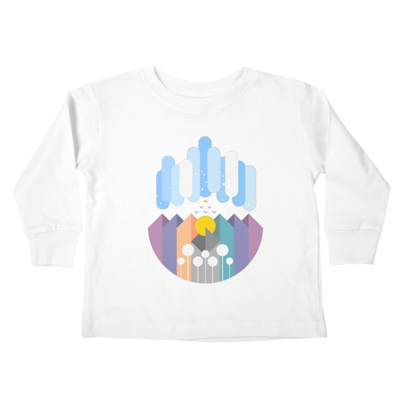 geomy Kids Toddler Longsleeve T-Shirt by muag's Artist Shop