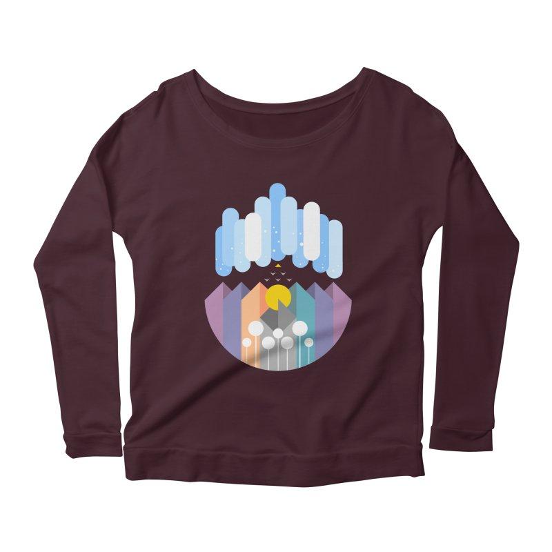 geomy Women's Scoop Neck Longsleeve T-Shirt by muag's Artist Shop