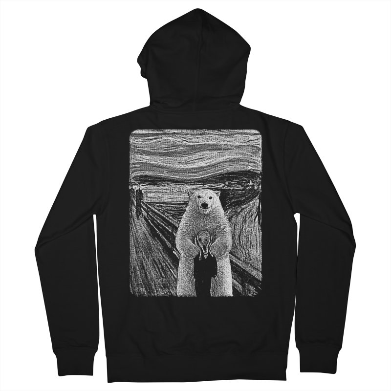 bear factor Men's French Terry Zip-Up Hoody by muag's Artist Shop