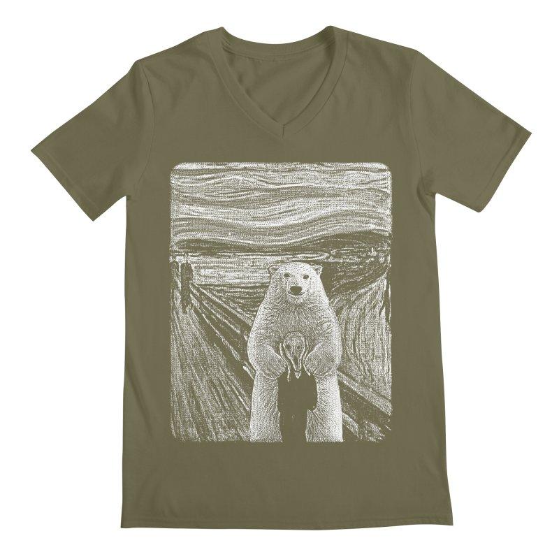 bear factor Men's Regular V-Neck by muag's Artist Shop