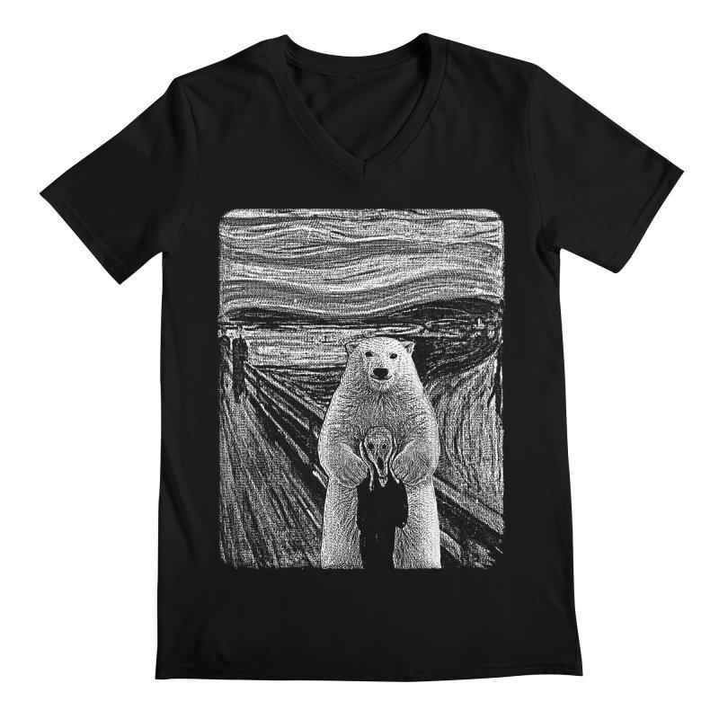 bear factor Men's V-Neck by muag's Artist Shop