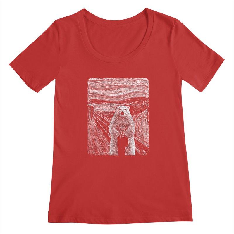 bear factor Women's Regular Scoop Neck by muag's Artist Shop