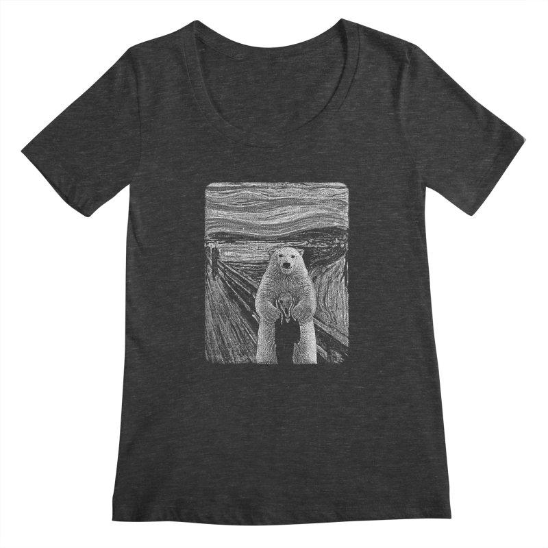 bear factor Women's Scoopneck by muag's Artist Shop
