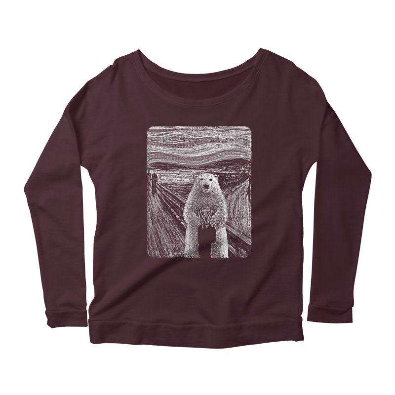 bear factor Women's Longsleeve Scoopneck  by muag's Artist Shop