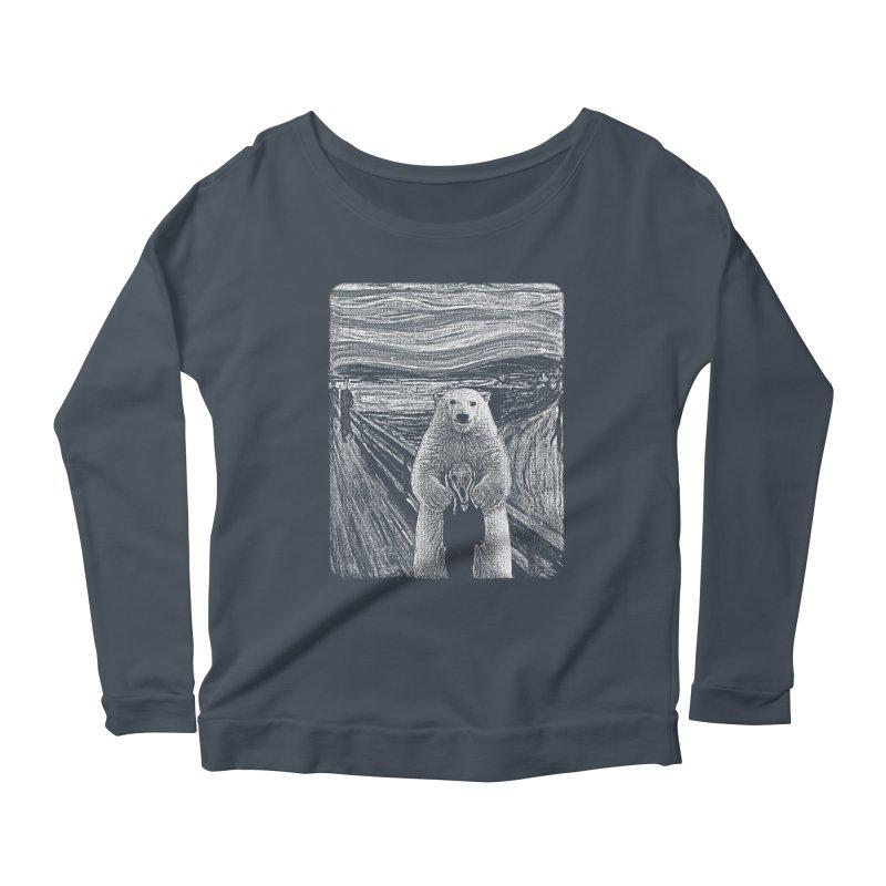 bear factor Women's Longsleeve Scoopneck  by muag's Artist Shop