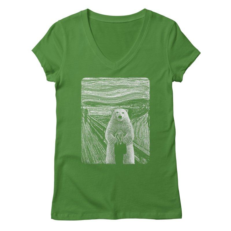 bear factor Women's V-Neck by muag's Artist Shop