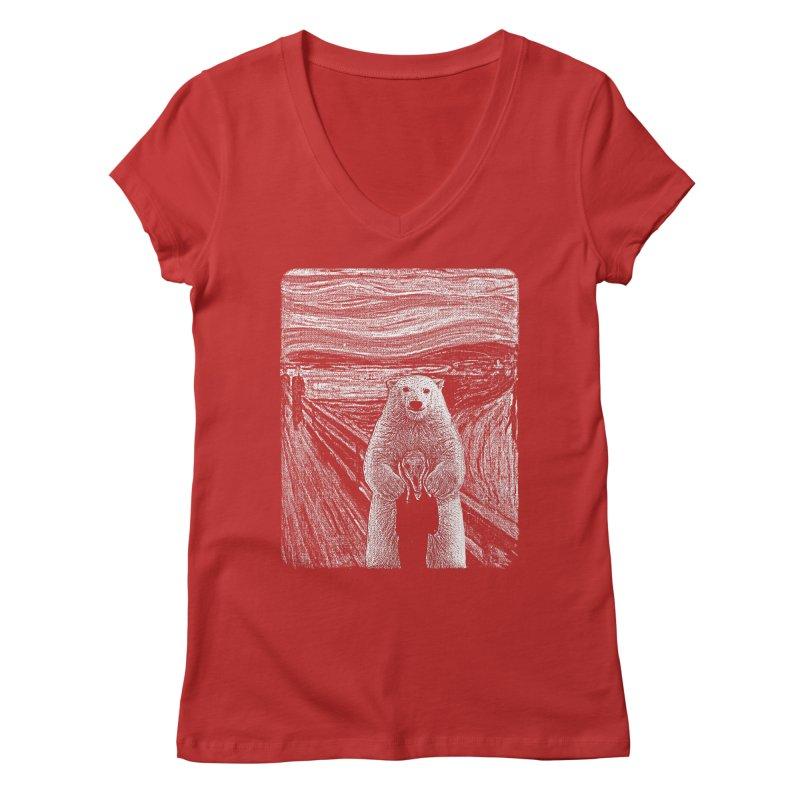 bear factor Women's Regular V-Neck by muag's Artist Shop