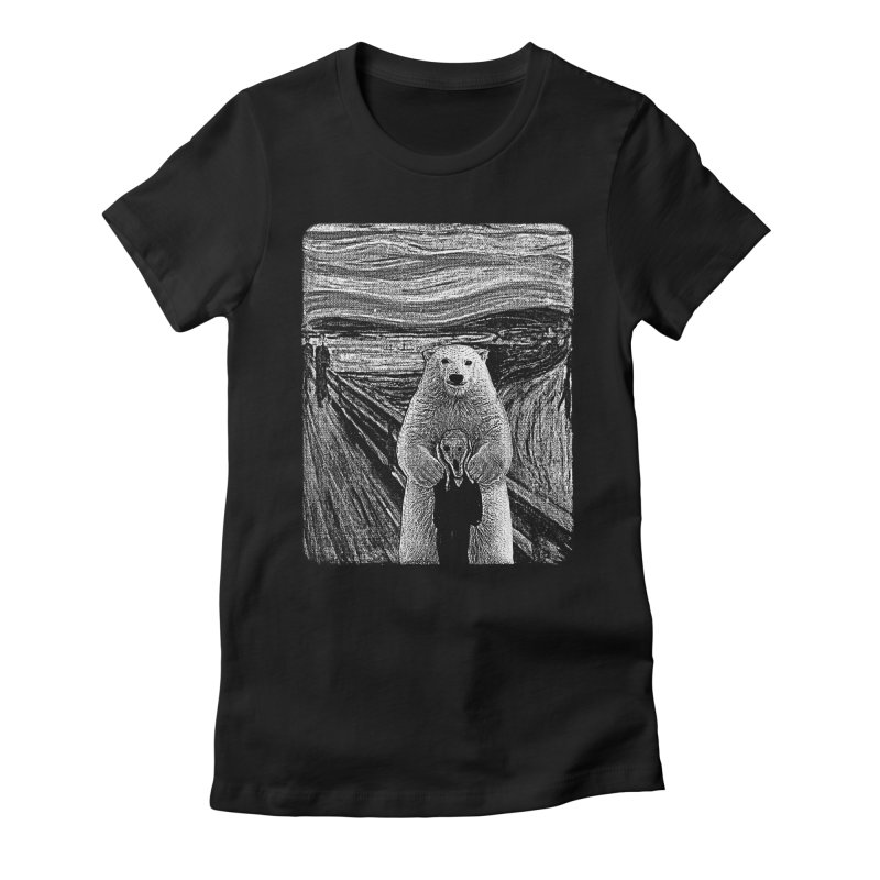bear factor Women's Fitted T-Shirt by muag's Artist Shop
