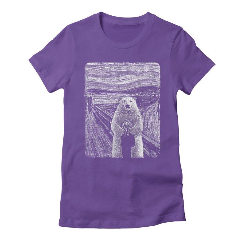 bear factor Women's Fitted T-Shirt by muag's Artist Shop