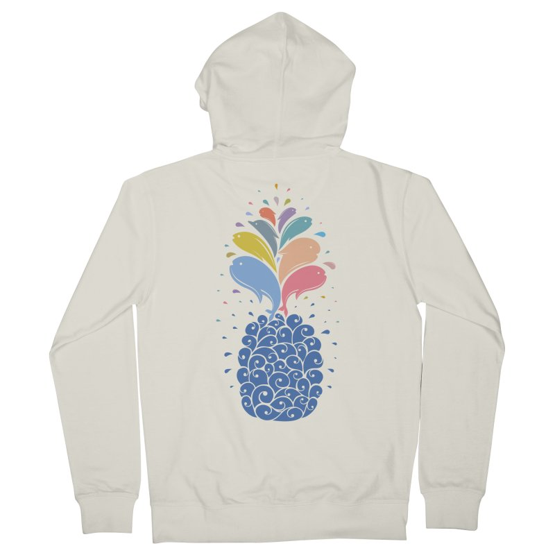 seapple Women's French Terry Zip-Up Hoody by muag's Artist Shop