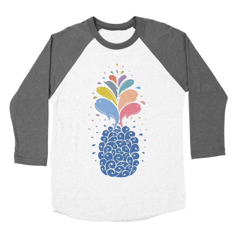 seapple Women's Baseball Triblend Longsleeve T-Shirt by muag's Artist Shop