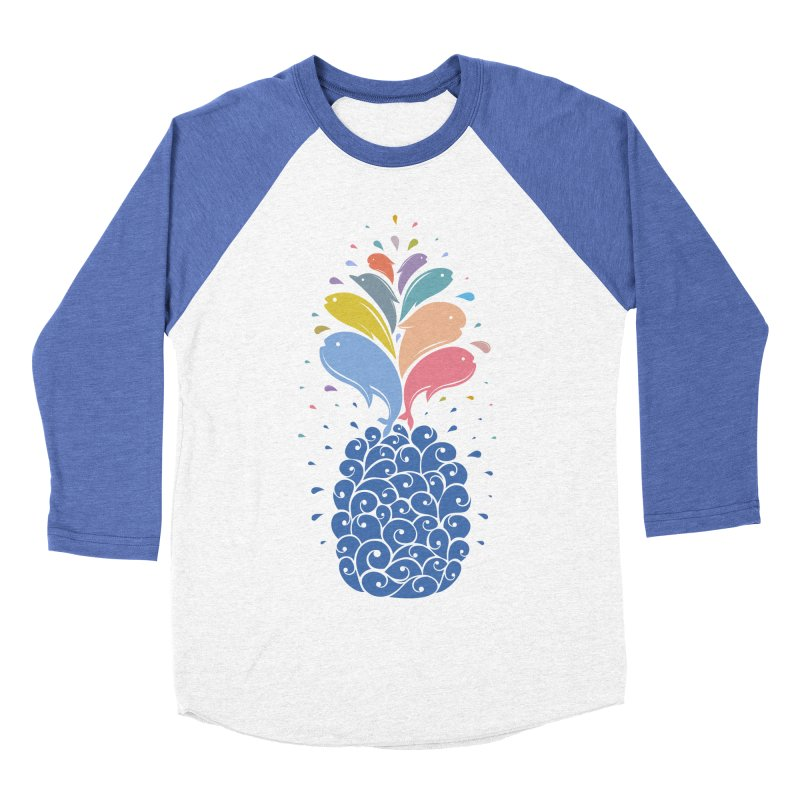 seapple Men's Baseball Triblend Longsleeve T-Shirt by muag's Artist Shop