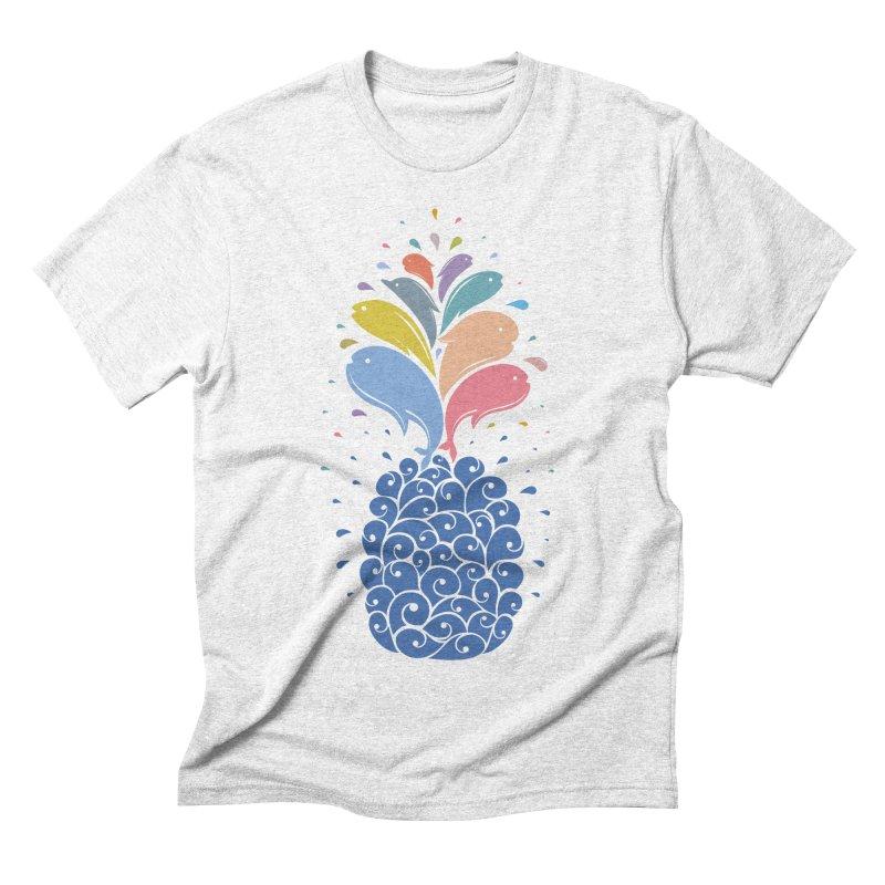 seapple Men's Triblend T-shirt by muag's Artist Shop
