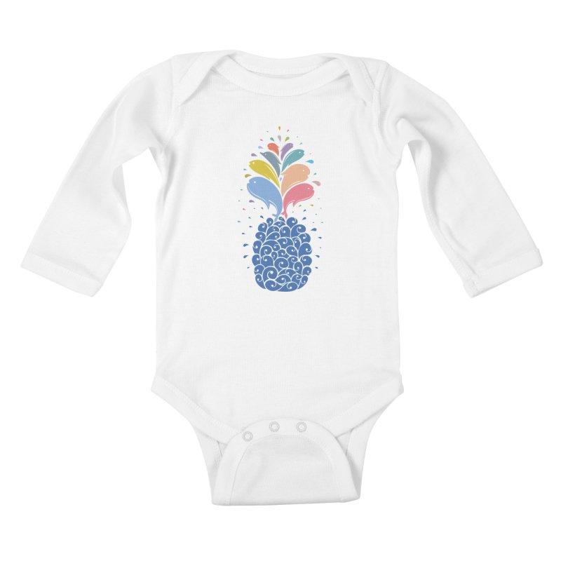 seapple Kids Baby Longsleeve Bodysuit by muag's Artist Shop