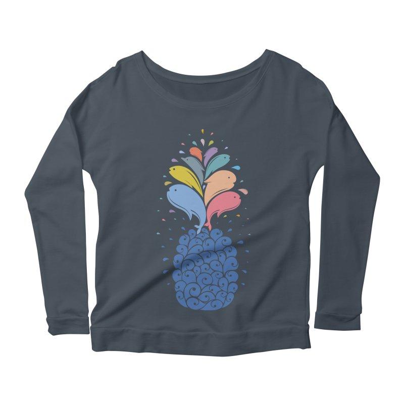 seapple Women's Scoop Neck Longsleeve T-Shirt by muag's Artist Shop