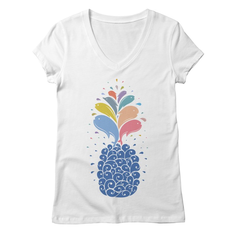 seapple Women's V-Neck by muag's Artist Shop