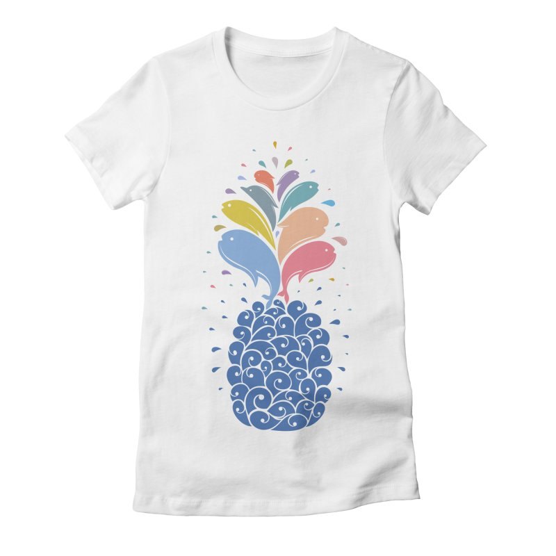 seapple Women's Fitted T-Shirt by muag's Artist Shop