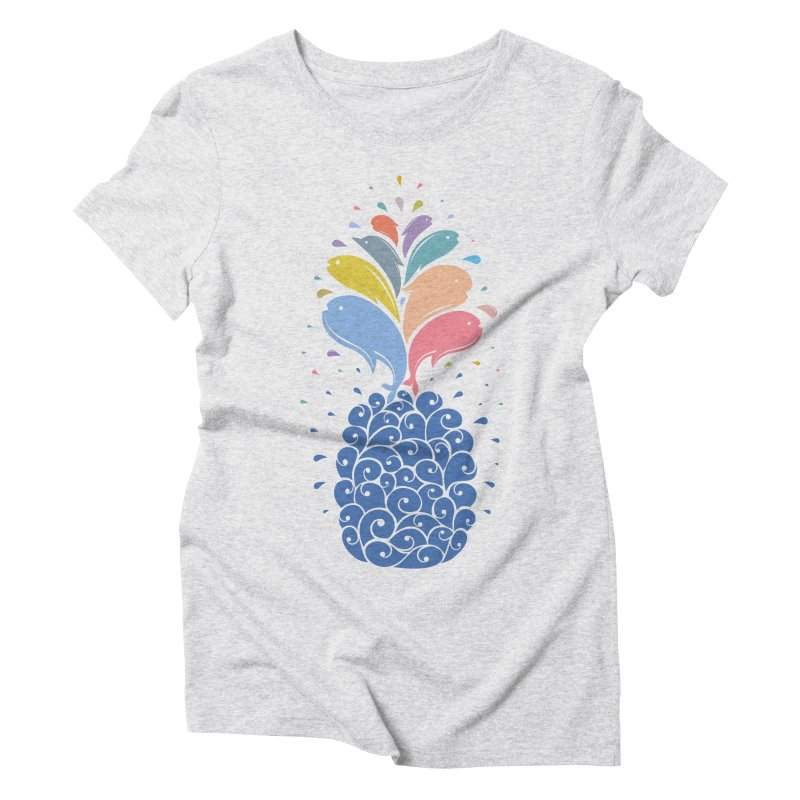 seapple Women's Triblend T-Shirt by muag's Artist Shop
