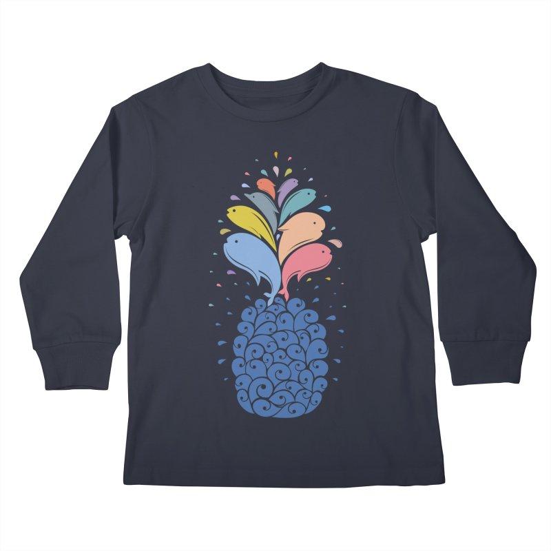 seapple Kids Longsleeve T-Shirt by muag's Artist Shop