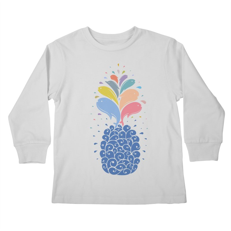 seapple Kids Longsleeve T-Shirt by muag's Artist Shop