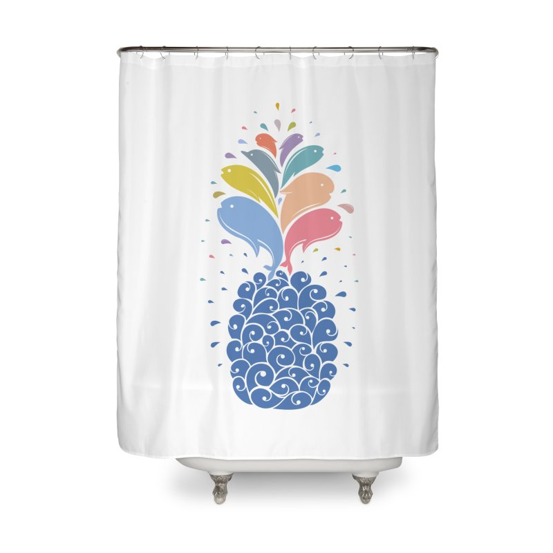 seapple Home Shower Curtain by muag's Artist Shop