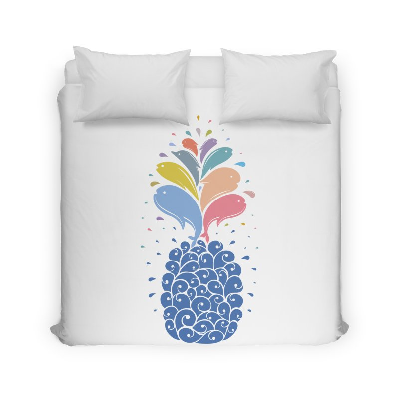seapple Home Duvet by muag's Artist Shop