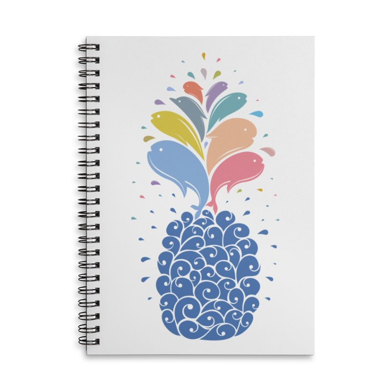seapple Accessories Lined Spiral Notebook by muag's Artist Shop