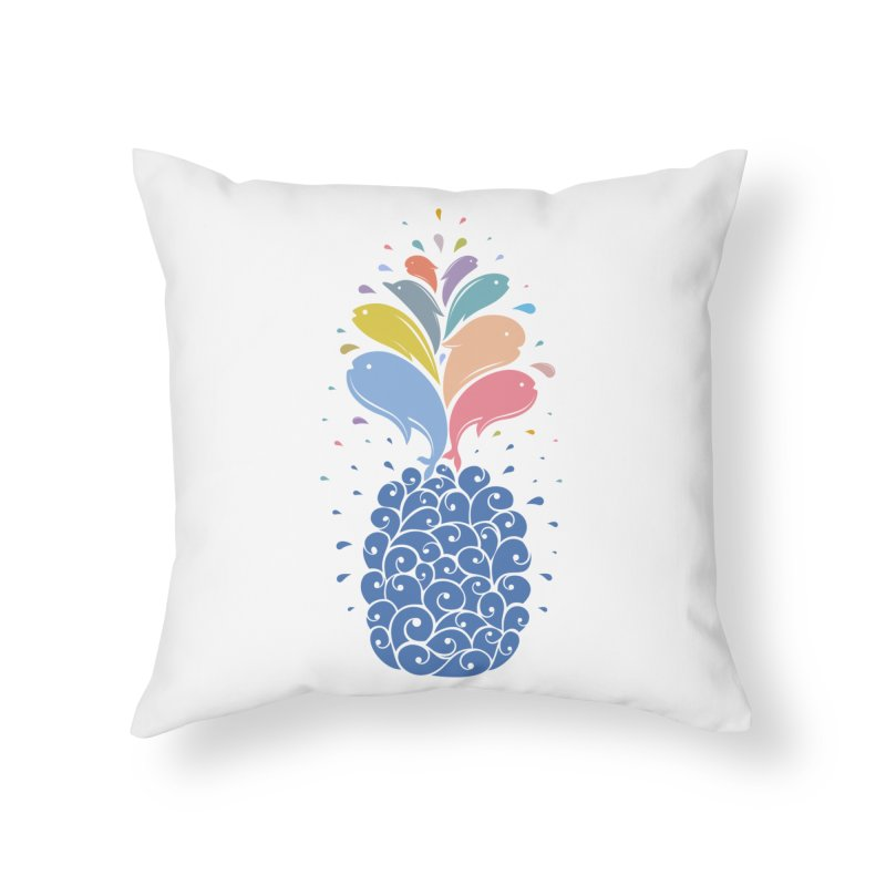 seapple Home Throw Pillow by muag's Artist Shop
